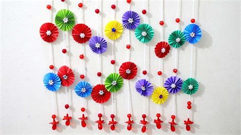 Papercraft Decorations - paper wall hanging ideas paper craft ideas for room