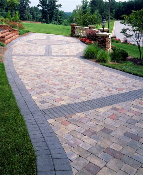 paver banding design ideas for pavers landscape pinterest patios driveways and backyard