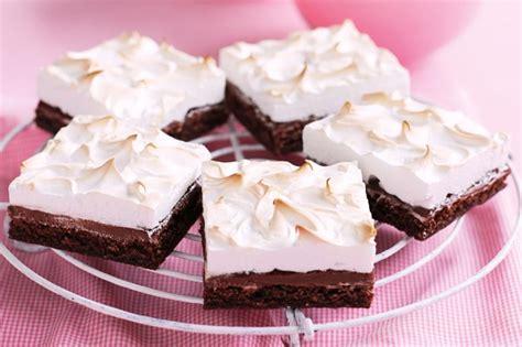 gluten free choc hazelnut meringue dessert slice recipe