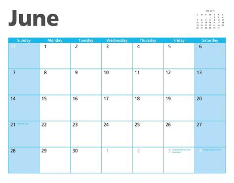 June 2015 Calendar June 2015 Calendar Page Free Stock Photo Domain
