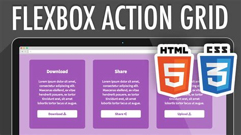 grid layout css3 html5 flexbox action grid html5 css3 xo pixel youtube