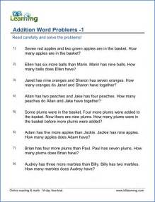 1st grade word problem worksheets free and printable