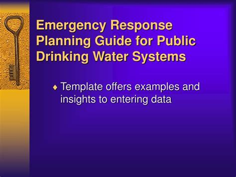 Ppt Vulnerability Assessments Emergency Response Plans Powerpoint Presentation Id 876269 Wastewater Emergency Response Plan Template