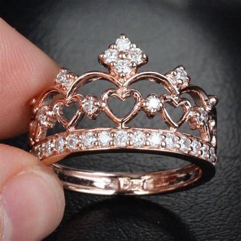 unique 14k gold crown from thelogr on etsy rings