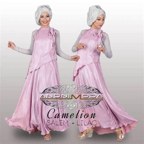 Baju Muslimah Esme E 010311 Pink Summer Dress anonimoda carmelion salem llc baju muslim gamis modern