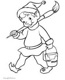 elf printable coloring pages