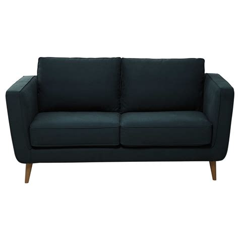 2 3 seater kendo fabric sofa in peacock blue nils