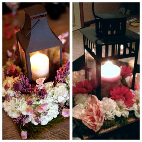wedding centerpieces with flowers and lanterns lantern centerpiece mock up weddingbee photo gallery
