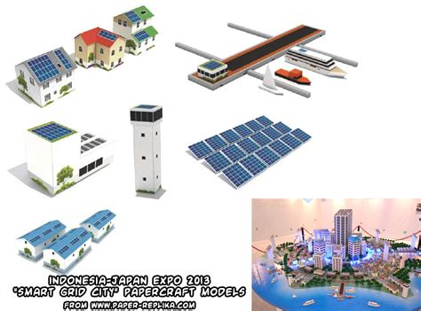 City Papercraft - ninjatoes papercraft weblog quot smart grid city quot papercraft