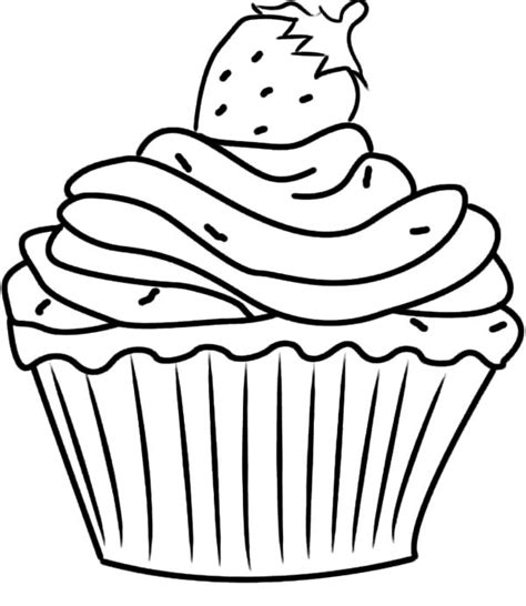 cupcake color cupcake coloring pages images