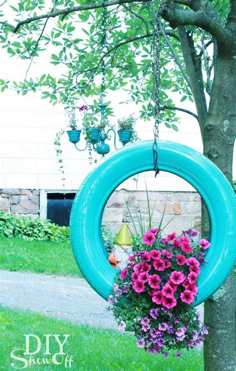 Flower Garden Decorations Best 25 Tires Ideas On