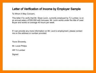 8 Salary Verification Letter Exles Pdf Income Verification Letter Template
