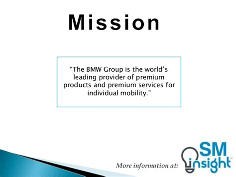 volvo mission statement bmw mission statement