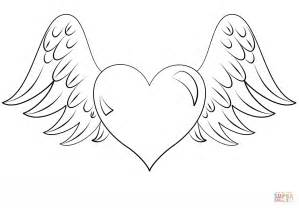wings of coloring pages coloring pages of hearts with wings coloring home
