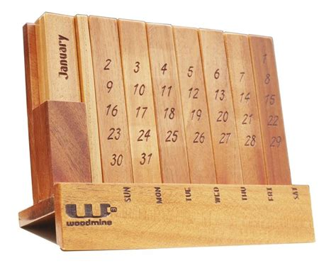 Office Desk Calendar Wooden Perpetual Calendar For Office Desk Puzzle Perpetual Calendar Corporate Wooden