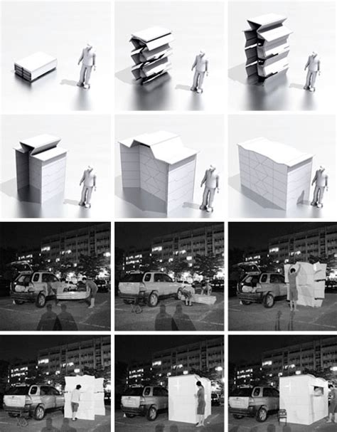 Japanese Design House origami inspired architecture 14 geometric structures