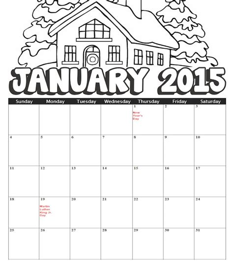 january coloring page search results calendar 2015 blank january 2015 calendar kindergarten search results