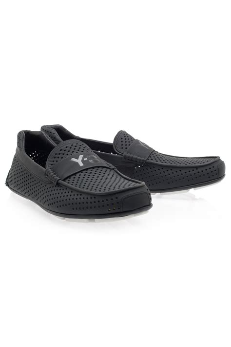 Moofeat Moccasin 3 Black Y 3 Drive Moccasin Leather In Black For Lyst