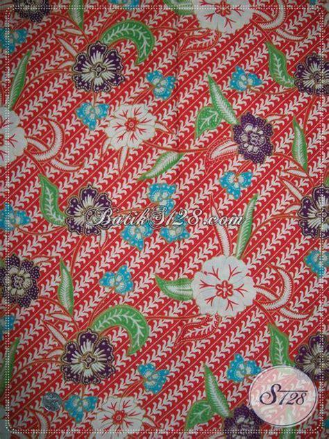 Kain Brukat Kode 267 kain batik floral warna merah toko batik murah di k850p toko batik 2018