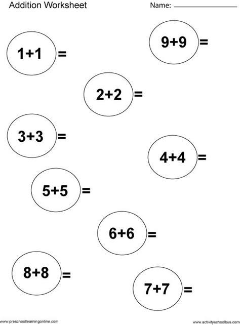 printable worksheets for kindergarten and first grade singapore math kindergarten worksheets first grade math
