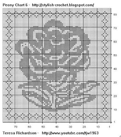 Similiar Flowers Filet Charts Image Keywords