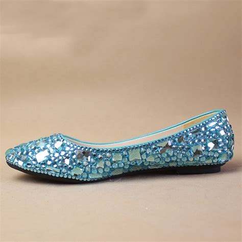sky blue s formal shoes jeweled beaded