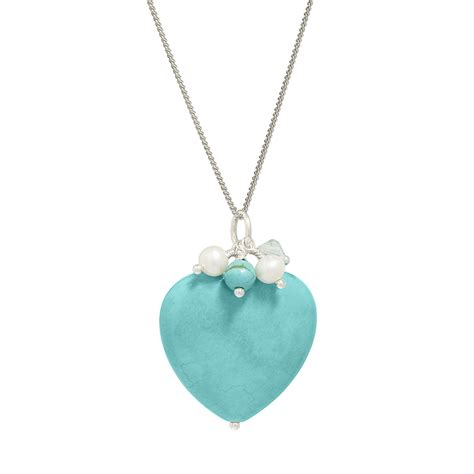 Turquoise Pendant Necklace turquoise pendant necklace silver jewellery biba