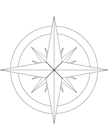 free coloring page compass rose compass rose coloring page coloring page for kids