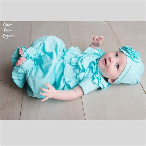 Emon Blue Home Set lemon layette newborn gown for baby in
