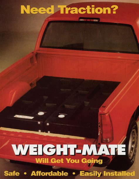 truck bed weights weight mate by granger plastics pick up truck traction