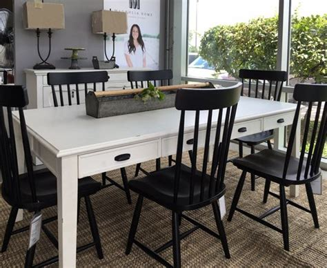 farmhouse table spindle chairs joanna gaines magnolia home toms price furniture diy home home furniture dining