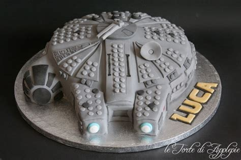 tutorial lego in pdz le torte di applepie millennium falcon cake