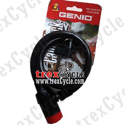 Kunci Gembok Genio Sepeda aksesoris sepeda murah untuk sepeda gunung sepeda balap fixie bmx dan sepeda lipat kunci