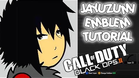 jayuzumi the celeb gamer jayuzumi black ops 2 anime emblem tutorial youtube