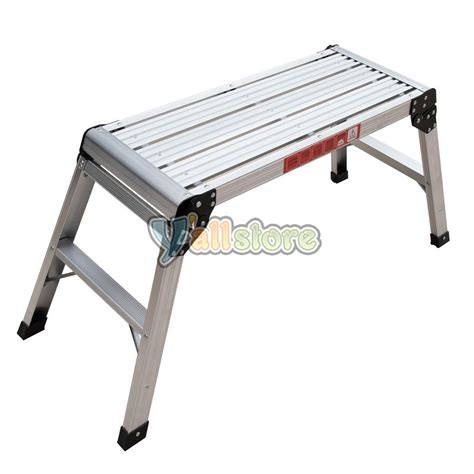 aluminum folding work bench en131 330lbs aluminum platform drywall step up folding