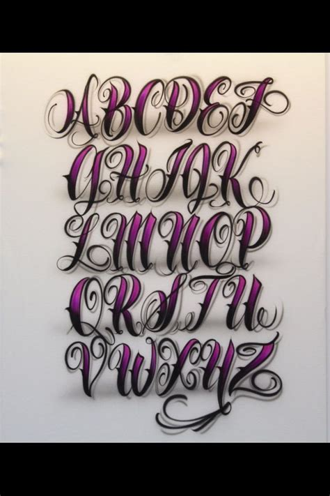 tattoo lettering artists chicano lettering alphabet 1000 images about fonts