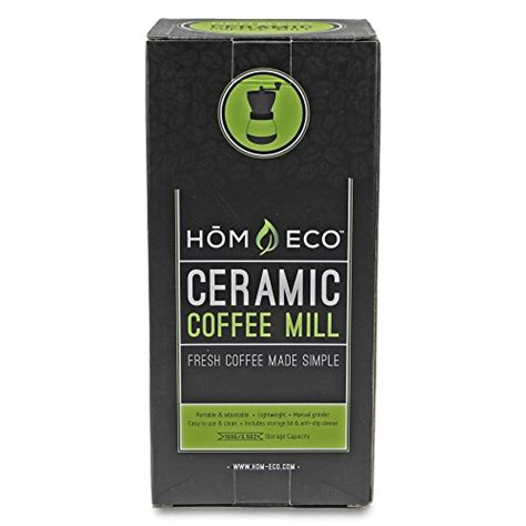 Edelmann Manual Ceramic Coffee Grinder Stainless Kf 06 100 Ml manual coffee grinder by homeco adjustable ceramic burr grinders with stainless adjustment nut