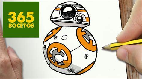 Imagenes Kawaii De Star Wars | como dibujar bb 8 de star wars kawaii paso a paso