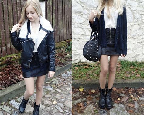 dalenadaily leather skirt lookbook
