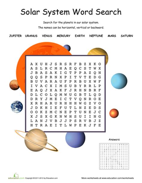 Solar System Worksheet by Solar System Activities Page 3 Pics About Space