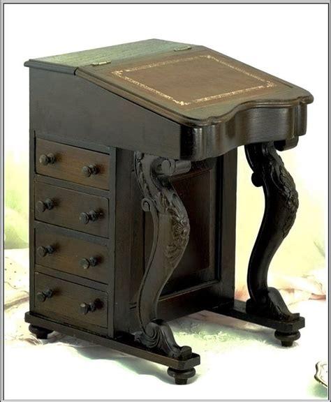antique miniature davenport or captain s desk from