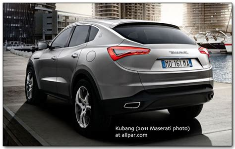 maserati jeep chrysler based maserati levante crossover suv