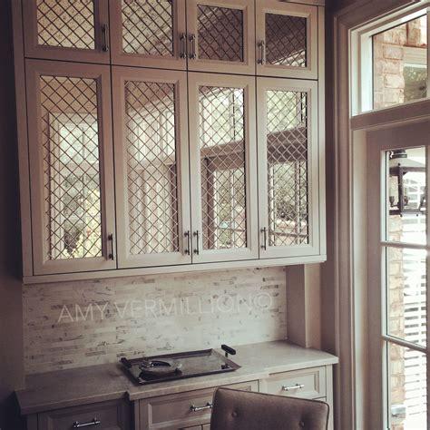 mirrored glass kitchen cabinets vermillion interiors antique mirror nickel