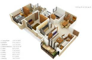 Floor Plan Kitchen Design 50 three 3 bedroom apartment house plans architecture