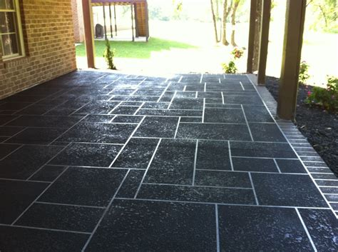 Concrete Overlays For Patios by Concrete Restoration Custom Slate Patterns On Large