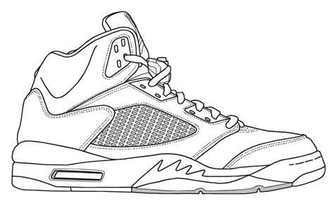 printable coloring pages nike shoes nike jordans shoes drawings clipart clipart suggest