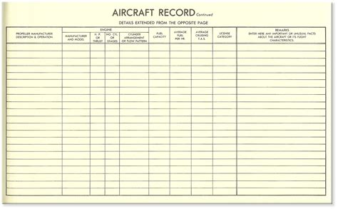 flight log book template maintenance log book entry for aircraft