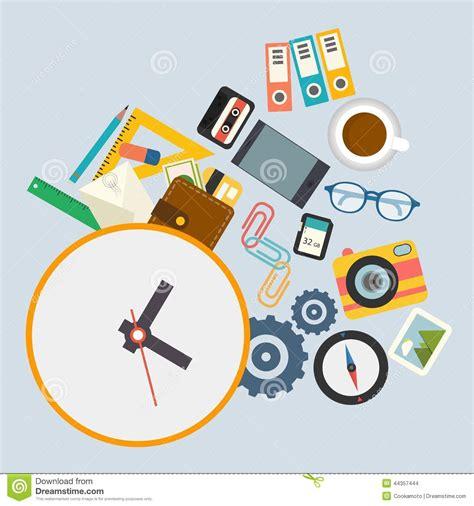 horaire de bureau infographics de vecteur l horaire de travail au bureau