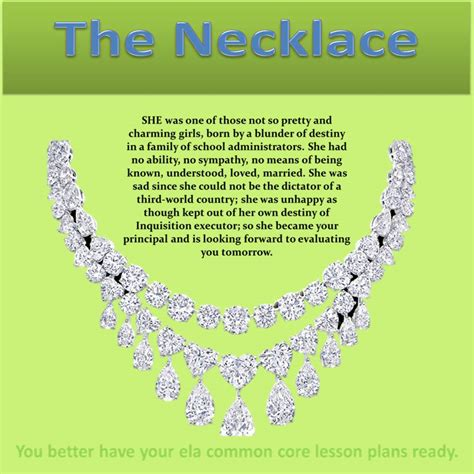 s guide an analysis of quot the necklace quot by de