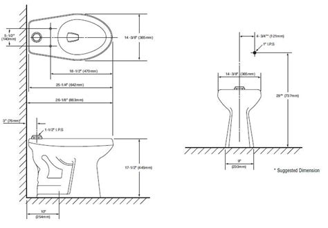 Ada Water Closet Dimensions by Toilet Water Closet Wall Clearances And Space In Front In